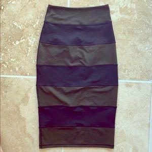 Lululemon Yoga Over Skirt camo/black stripe